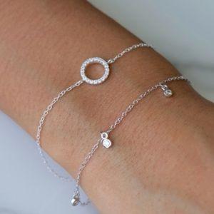 Jewelry - Dainty Sterling Silver Eternity Bracelet